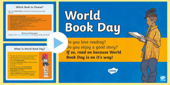 World Book Day 2017 PowerPoint - Diwrnod y Llyfr, World Book Day, Wales, Display, Book, Book day.