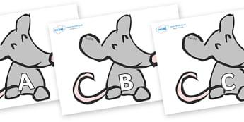 A-Z Alphabet on Mice - A-Z, A4, display, Alphabet frieze, Display letters, Letter posters, A-Z letters, Alphabet flashcards