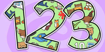 Letters and Sounds Themed A4 Display Numbers- letters and sounds, display numbers, letters display numbers, sounds display numbers, display