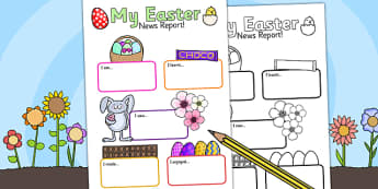 Easter Event Writing Report - easter, religion, RE, writing