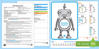 EYFS Doubling Machine Adult Input Plan and Resource Pack - EYFS, Number, ELG, mathematics, early years, EYFS Planning, Adult led, teaching, teacher led, lesson