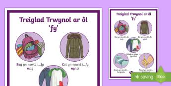 Poster Treiglad Trwynol ar ôl 'fy'  - Mutations Posters, Posteri Treigladau, treiglad trwynol, siarad, ysgrifennu, iaith, gwella, Cymraeg,