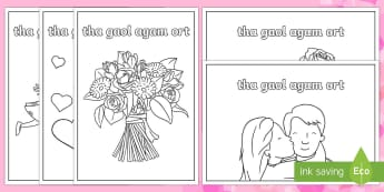 CfE Valentine's 'I Love You' Greetings Cards - CfE Gaelic Events Resources, valentine's cards, I love you, tha gaol agam ort, gaelic learners, gae