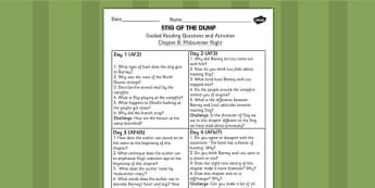 Stig of the Dump Guided Reading Questions Chapter 8 - stig, read
