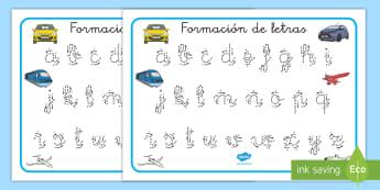 Tapiz de formación de letras: Transporte - Transporte, proyecto, coche, avión, tren, bici, bicicleta, helicóptero, camión, coete, furgoneta,