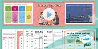 PlanIt Y2 Term 2A W6: Common Exception Words Spelling Pack - Spellings Year 2, Term 2A, Week 6, common exception words, spellings, tricky words, people, ks1