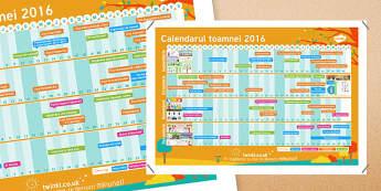Calendarul toamnei Calendar de perete