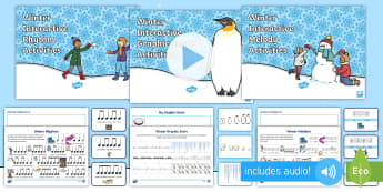 Winter Music Composition Resource Pack - Music, composing, rhythm, melody, pitch, graphic score, winter