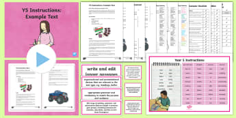 Y5 Instructions Example Text - Example Texts Y5, instructions, monster truck, puncture, WAGOLL, exemplification, annotated, example