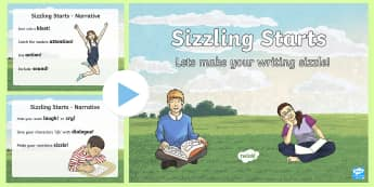 Sizzling Starts Narrative Writing PowerPoint-Australia - Sizzing Starts, Narrative writing, creative writing, writinf prompts, story openers, australia writi