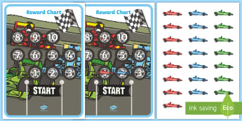 Car Themed Reward Chart Activity Sheet - My Princess Castle Reward Chart - Reward Chart, School reward, Behaviour chart, SEN chart, Daily rou