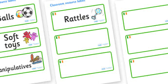 Ireland Themed Editable Additional Resource Labels - Themed Label template, Resource Label, Name Labels, Editable Labels, Drawer Labels, KS1 Labels, Foundation Labels, Foundation Stage Labels, Teaching Labels, Resource Labels, Tray Labels, Printable