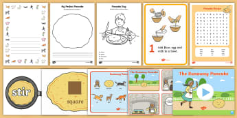 The Runaway Pancake Resource Pack - Pancake Day, shrove Tuesday, pancakes, lent, alternative fairy tales, alternative traditional tales,