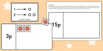 Workstation Pack 1-20 Penny Counting Activity - teacch