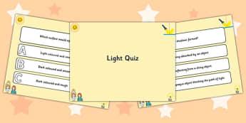Light PowerPoint Quiz - light, powerpoint, quiz, powerpoint quiz