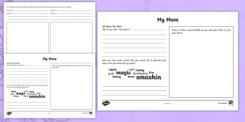 Mother's Day Scots Language Activity Sheet - CfE, Mother's Day, Scots language, dialect, Scotland, Scottish, events, creating texts,Scottish
