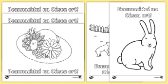 Happy Easter Colouring Pages Gaeilge - ROI Lent/Easter 2017, Happy Easter, Gaeilge, irish, an Cháisc, colouring ,Irish