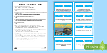 Al-Hijra True or False Cards Activity