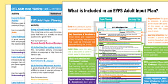 EYFS The Little Red Hen Adult Input Planning and Resource Pack Overview