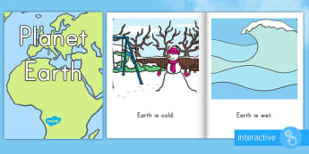 Planet Earth Emergent Reader eBook - Planet Earth emergent reader eBook, Earth Day emergent reader eBook, early reading, beginner readers