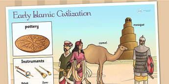 Early Islamic Civilization Large Display Poster - history, islam