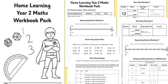 Learning from Home Maths Workbook Year 2 Number and Place Value