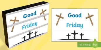 Good Friday Light Box Inserts - Religion, good friday light box inserts, good friday, light box inserts, crucifixion, jesus, Austral