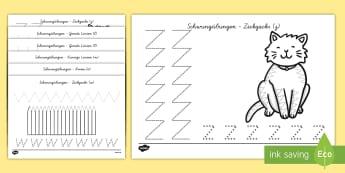 Auf der Farm thematisierte Arbeitsblatt Erstes Schreiben: Linien nachspuren - Erstes Schreiben, Schreiben lernen, Linien nachspuren, Linien nachschreiben, schreiben, nachspuren,