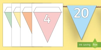 Counting in 4s Display Bunting - Counting in 5s Bunting - counting, count, displays, display, countng, couting, bounting, coutning, x