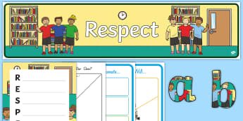 Respect Lesson Teaching Pack - New Zealand Back to School, back to school, behaviour management, classroom management