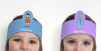 Pinocchio Role Play Headbands - story, roleplay, traditional tale