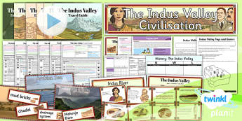 PlanIt - History UKS2 - The Indus Valley Unit Pack Notebook