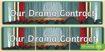 Our Drama Contract Display Banner - ROI Drama, acting, contract, display, ,Irish