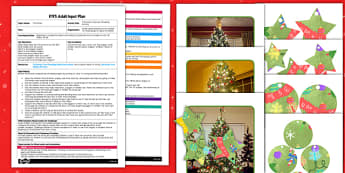 Christmas Tree Size Threading Activity EYFS Adult Input Plan and Resource Pack