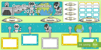 2017 2018 Class Timeline Display Pack - Back to School, new start, new class, timeline, display,Scottish,Scottish