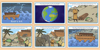 Noah's Ark Story Sequencing - usa, america, noahs ark, story, sequencing, noah's ark, sequence, christianity