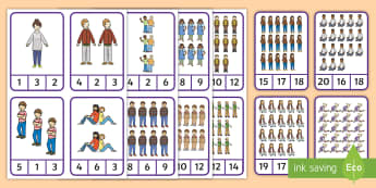 My Family Peg Counting 1-20 Number Cards - EYLF, Numeracy, maths, number concepts, subitising, number recognition, fine motor, kindergarten, pr