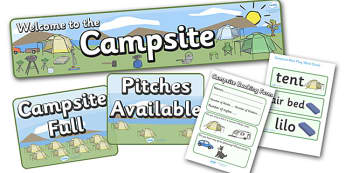 Campsite Role Play Pack - Campsite, role play, pack, camping, booking form, book, pitch, caravan, tent, pegs, campsite booking, holidays, holiday