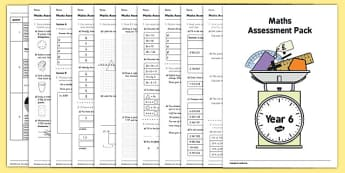 Year 6 Maths Assessment Pack Term 1 - year 6, assessment, pack, assess, maths