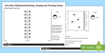 KS2 Running and Throwing Games Adult Guidance - athletics, running, jumping, throwing, catching, team games, fundamental movement skills