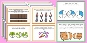 Fractions Challenge Cards Romanian Translation - romanian, fractions, challenge, cards, activity