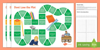 Don't Lose the Plot! Differentiated Board Game  - y=mx+c, line graphs, parallel, perpendicular, gradient, intercept, intersect, intersection, horizont