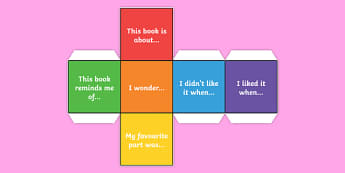 Reading Comprehension Statement Dice Net - reading, comprehension