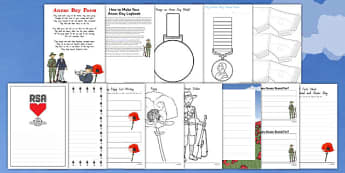 Anzac Day Lapbook Creation Pack - nz, new zealand, lapbook, creation, pack