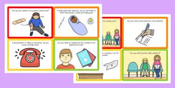 Challenge Cards Doctors Surgery - challenge, cards, doctors