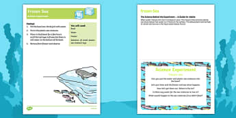 EYFS Frozen Sea Science Experiment and Prompt Card Pack
