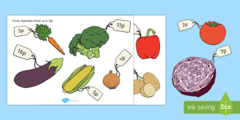 Priced Vegetables Up to 20p Cut-Outs - Priced Pieces of Fruit Mixed Up to 20p - fruit, mixed, price, 20p