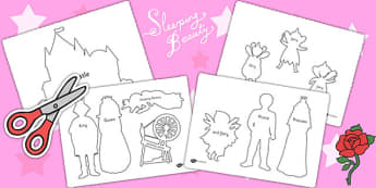Sleeping Beauty Shadow Puppets - sleeping beauty, puppets, story