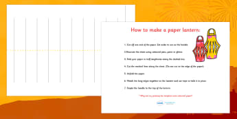 How to Make a Paper Lantern Craft Instruction Sheets - how to make, making, your own, make, craft, chinese new year, chinese new year lantern, new year lantern, chinese lantern, make your own chinese lantern, chinese, chinese new year craft, creative