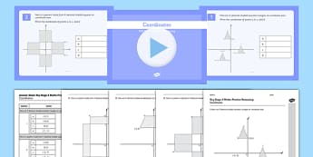 KS2 Reasoning Test Practice Coordinates Resource Pack - KS2, Key Stage 2, Reasoning, coordinates, translation